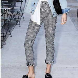 Free People Houndstooth Pants (Never Worn)